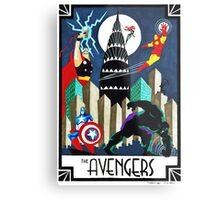 Art Deco Avengers Metal Print
