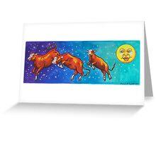 Moon Cows! Greeting Card