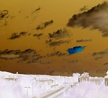 beyond a blue cloud by NafetsNuarb