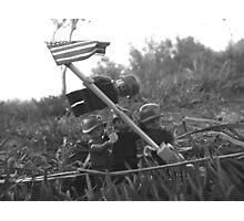 The Smaller Flag of Iwo Jima Photographic Print