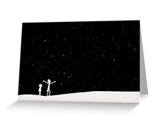 Rick and Morty Silhouette Greeting Card