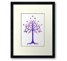 LOTR // TREE OF GONDOR // MINIMALIST POSTER Framed Print