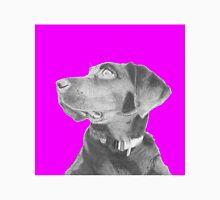 Black Labrador Retriever in Pink Headshot Unisex T-Shirt