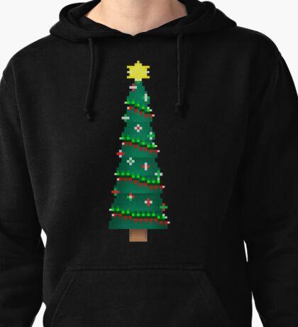 Pixel Christmas Tree Pullover Hoodie