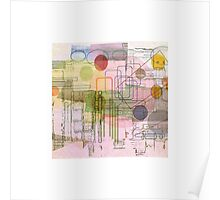 A Circle Amongst Squares Poster