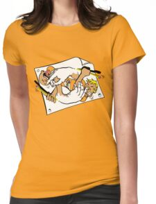 Nostrilympics - Gold Womens Fitted T-Shirt