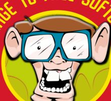 I.T Hero - Use Free Software Sticker