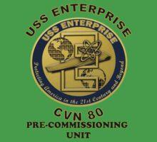 PCU Enterprise (CVN-80) Crest  One Piece - Short Sleeve