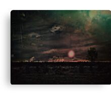Galactic showers Canvas Print