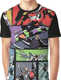 Super Robots Graphic T-Shirt