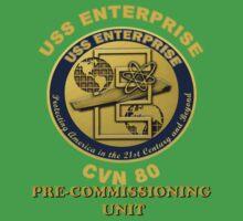 PCU Enterprise (CVN-80) Crest for Dark Backgrounds Kids Tee