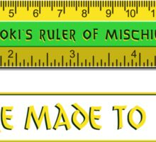 Loki's Ruler of Mischief Sticker