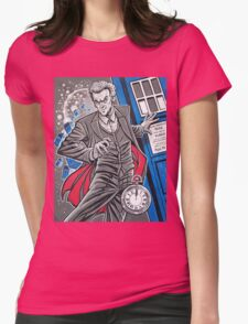 """The Twelfth Doctor (""""All Thirteen!"""") Womens Fitted T-Shirt"""