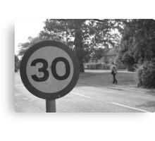 30 sign Canvas Print