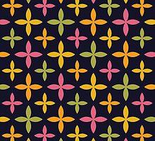 Colorful Modern Blossom Pattern by cikedo