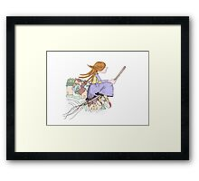 girl flying Framed Print
