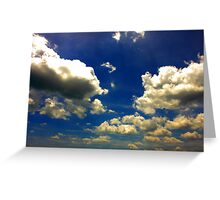 Etheral Sky Wrapped in Clouds Greeting Card