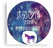 Save the Unicorns!  Canvas Print