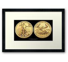 2011 Gold Eagle Print Framed Print
