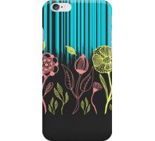 Hand Drawn Flower & Rain Scene iPhone Case/Skin
