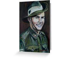 "ANZAC Portrait Series 4 - ""JOE"" Part 1  Greeting Card"