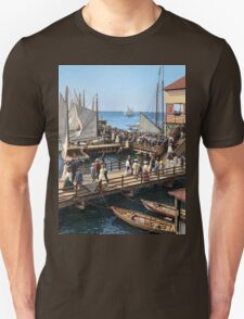 Pier at the inlet, Atlantic City, N.J. year 1904 Unisex T-Shirt