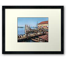 Pier at the inlet, Atlantic City, N.J. year 1904 Framed Print