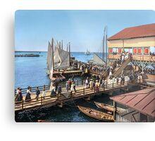 Pier at the inlet, Atlantic City, N.J. year 1904 Metal Print