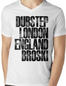 Dubstep London England Broski Mens V-Neck T-Shirt