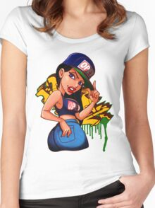 WhatsUP! Crank Girls Women's Fitted Scoop T-Shirt