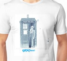 doctor who 10th doctor- David Tennant (snow effect) Unisex T-Shirt