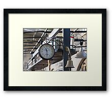 A Clockwork Blue Framed Print