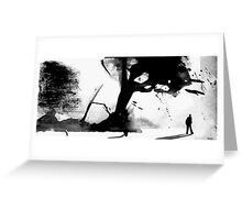 figure in a landscape Greeting Card