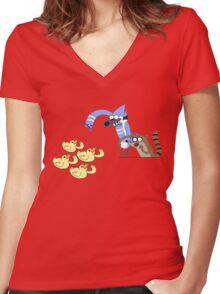 Regular Show Women's Fitted V-Neck T-Shirt
