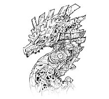 Clockwork Dragon BW II Photographic Print