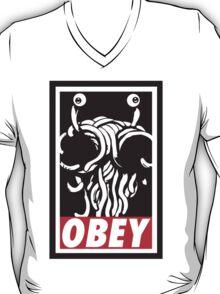 Flying Spaghetti Monster Obey Parody T-Shirt