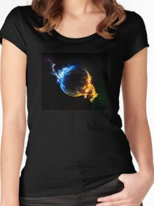 Earth Ice Fire Women's Fitted Scoop T-Shirt