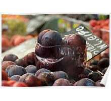 Plums in the Hot Sun of Jerusalem Market Poster