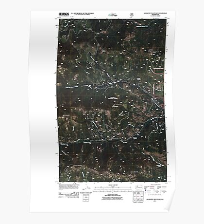 USGS Topo Map Washington State WA Jackknife Mountain 20110509 TM Poster