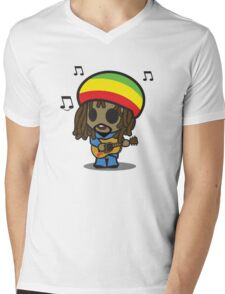 Reggae Man Mens V-Neck T-Shirt