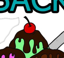 Taking Back Sunday - Ice Cream Sundae  Sticker