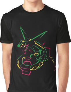 Rayquaza Line Art Graphic T-Shirt
