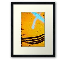 Tracking (Blue) Time Framed Print