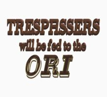 Trespassers Will Be Fed to the Ori by Spacestuffplus