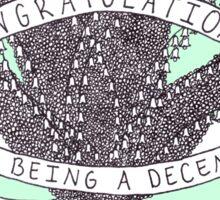 Congratulations - green Sticker