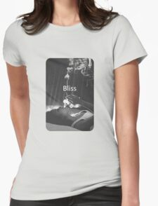 Girl Smoking Womens Fitted T-Shirt