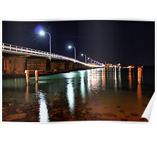 Forster NSW Australia, at night.  Poster