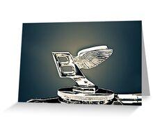 Bentley Symbol-Yorkville Exotic Car Show Greeting Card
