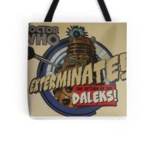 Comic style doctor who dalek  Tote Bag