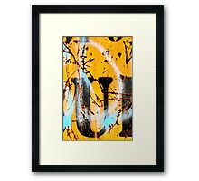 Sprayed Out U Framed Print